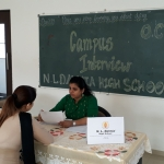 Representative from Dalmia School taking Interview at OCER Andheri